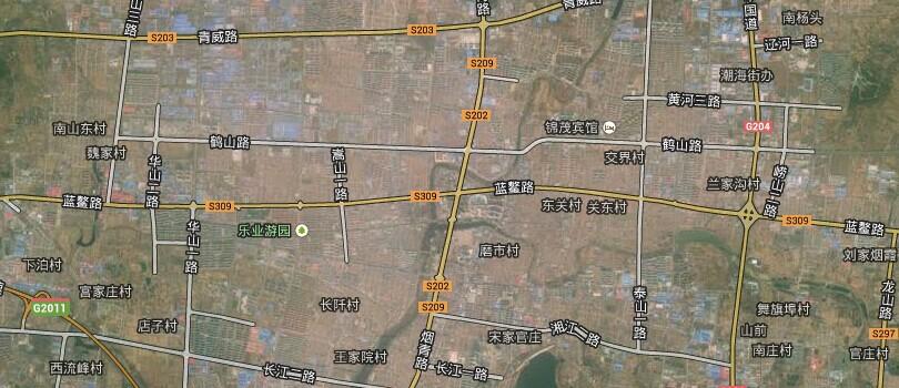 定陶地图卫星地图