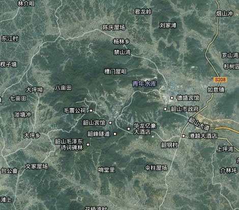 韶山滴水洞景区地图